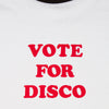 Vote For Disco - Ringer Tshirt - White - Wasted Heroes