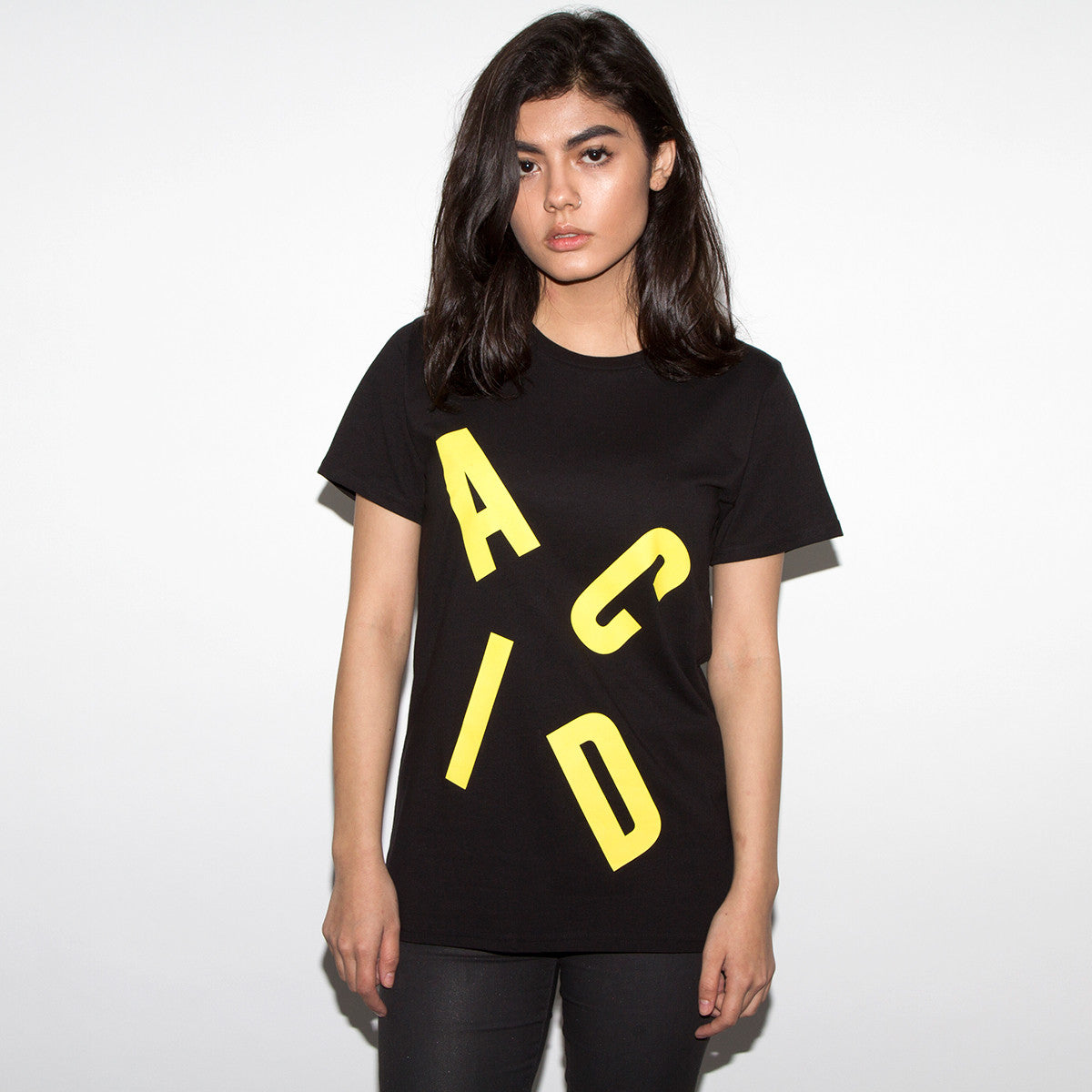 6ba5380a7471 Acid Letter - Women's Tshirt - Black | Wasted Heroes