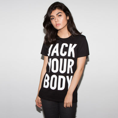 Jack Your Body - Womens Tshirt - Black - Wasted Heroes