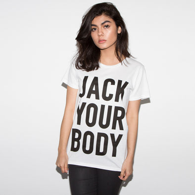 Jack Your Body - Womens Tshirt - White - Wasted Heroes