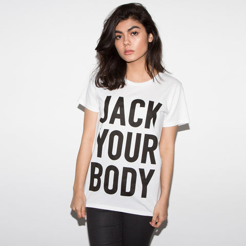Jack Your Body Women's White T-shirt