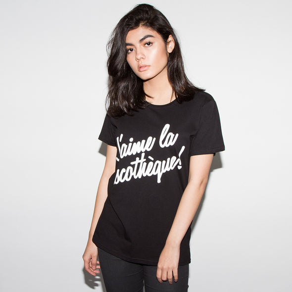 J'aime Discotheque - Womens Tshirt - Black - Wasted Heroes
