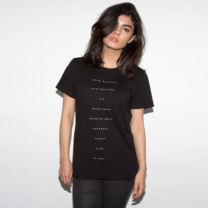 The Recipe Women's Black T-shirt - Wasted Heroes