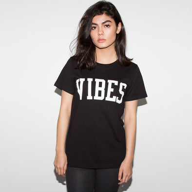 Vibes - Womens Tshirt - Black - Wasted Heroes