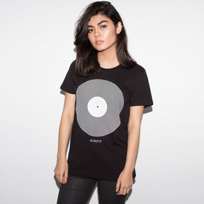Women's Black Vinyl T-shirt - Wasted Heroes
