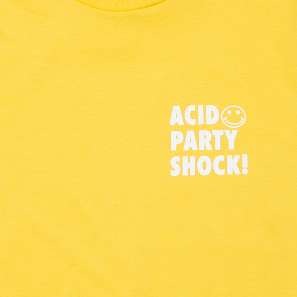 Acid Party Shock  - Women's Tshirt - Yellow - Wasted Heroes
