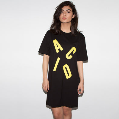 Acid Letter - Longline Womens - Black - Wasted Heroes