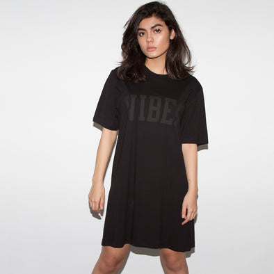 Vibes Black On Black Longline T-shirt - Women's
