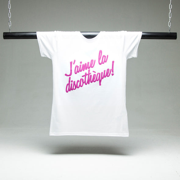 J'aime Discotheque - Womens Tshirt - White - Wasted Heroes