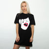 Droplet Face - Longline Womens - Black - Wasted Heroes