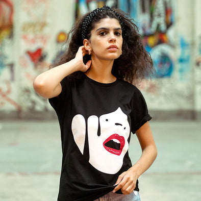 Droplet Face - Women's Tshirt - Black - Wasted Heroes