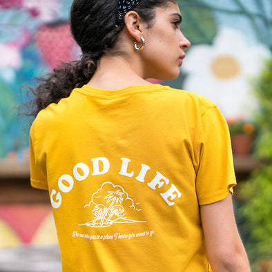 Good Life  - Women's Tshirt - Mango - Wasted Heroes