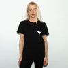 Dove Back Print  - Women's Tshirt - Black
