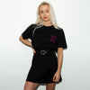 Synth Sex Back Print - Longline Womens - Black - Wasted Heroes