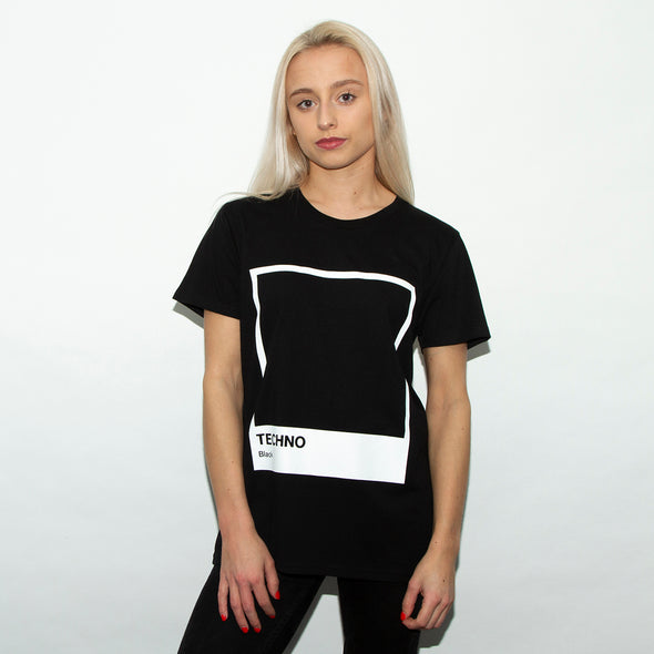 Techno Black - Womens Tshirt - Black