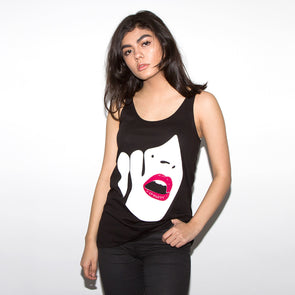 Droplet Face - Womens Vest - Black - Wasted Heroes