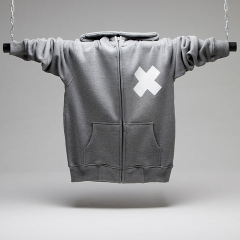 X High Neck Zip-Up Hoodie
