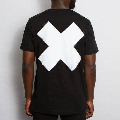 Back Print X - Tshirt - Black - Wasted Heroes