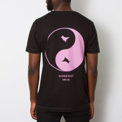 Dove Back Print T-shirt - Black/Pink