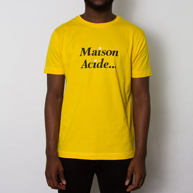 Maison Acide - Tshirt - Yellow - Wasted Heroes