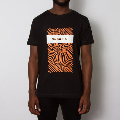 Shake It T-shirt - Black/Orange