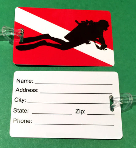 Scuba Flag Luggage Tag