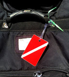SCUBA DIVING FLAG ID / LUGGAGE TAG (Blank Back) (Whl)