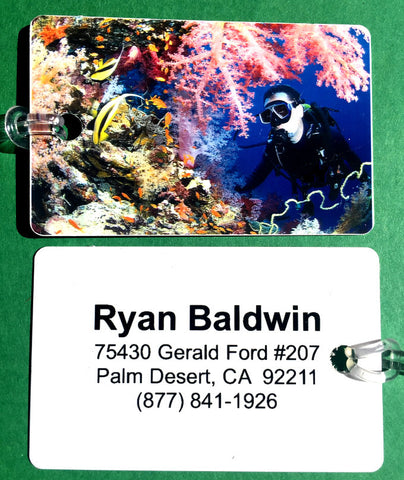 SCUBA DIVER AND CORAL ID Printed on Back