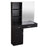 BarberPub Wall Mount Hair Styling Barber Station W/ Mirror Beauty Salon Spa Equipment 3056