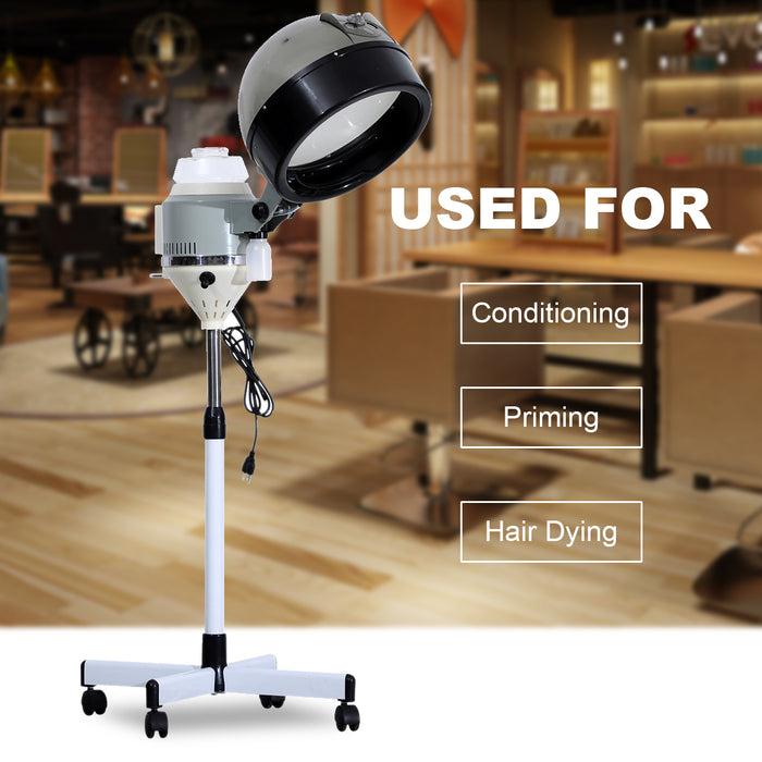 BarberPub Professional Hair Steamer w/ Rolling Floor Stand Base Beauty Salon Sundry RHS09