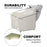 BarberPub Backwash Ceramic Shampoo Bowl Sink Chair Station Spa Salon Beauty Bowls 9089