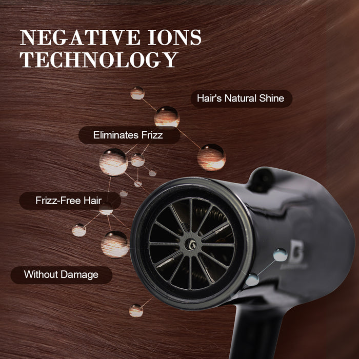 Professional 2300W Negative Ionic Hair Dryer 2Speed/3Heat Temp with Cold Blow