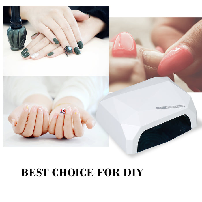 BarberPub LED Nail Dryer for Regular Polish Gel Nail Curing Lamp Professionally 36w UV LED Light