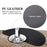 "BarberPub 3'x5' Salon Barber Chair Anti-Fatigue Floor Mat Circle 1/2"" Thick 0020"