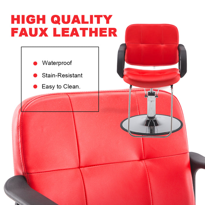 BarberPub Classic Hydraulic Barber Chair Salon Beauty Spa Styling Chair 6154-8837