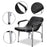 BarberPub Shampoo Chair Comfort Curve Hair Barber Beauty Salon Steel Frame Equipment 6154-7011 Black
