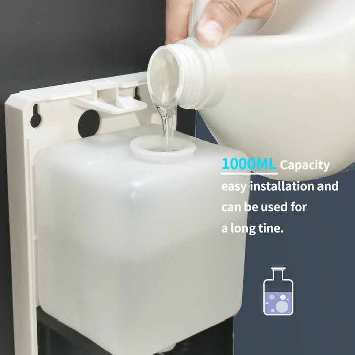 Purgerm Automatic Hand Sanitizer Dispenser Stand, Touchless Universal Portable Soap Dispenser with Stainless Steel Floor Stand Station, 1000ml Adjustable Stand Induction Floor-Standing for Office School Hospital and Commercial Use DSD06