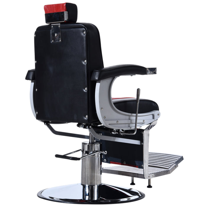 BarberPub Heavy Duty Metal Vintage Barber Chair All Purpose Hydraulic Recline Salon Beauty Spa Styling Equipment 3815