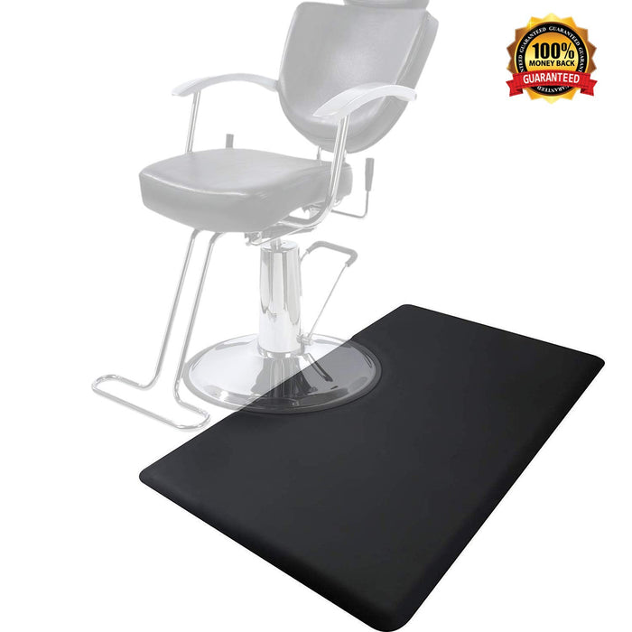 "BarberPub 3'x5' Salon Barber Chair Anti-Fatigue Floor Mat Rectangle 1/2"" Thick 0035"