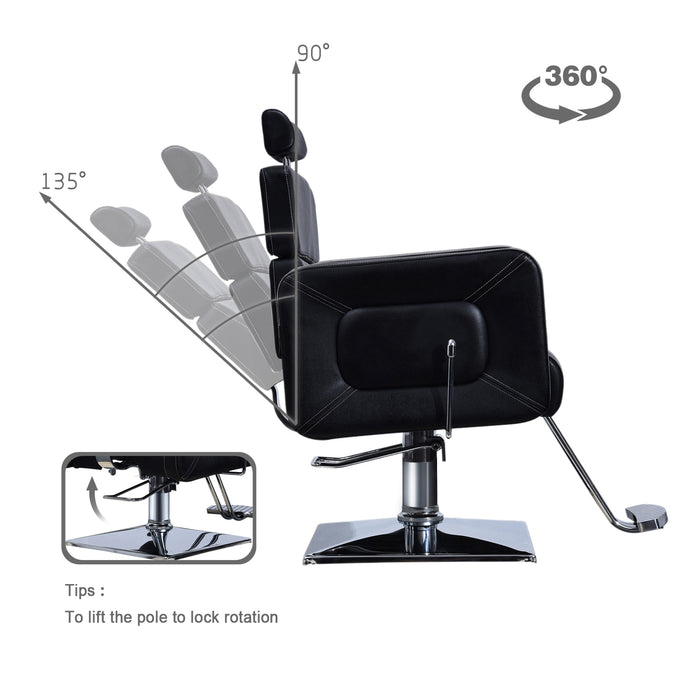 BarberPub Classic Hydraulic Barber Chair Recline Adjustable Salon Beauty Spa Chair Hair Styling 2065