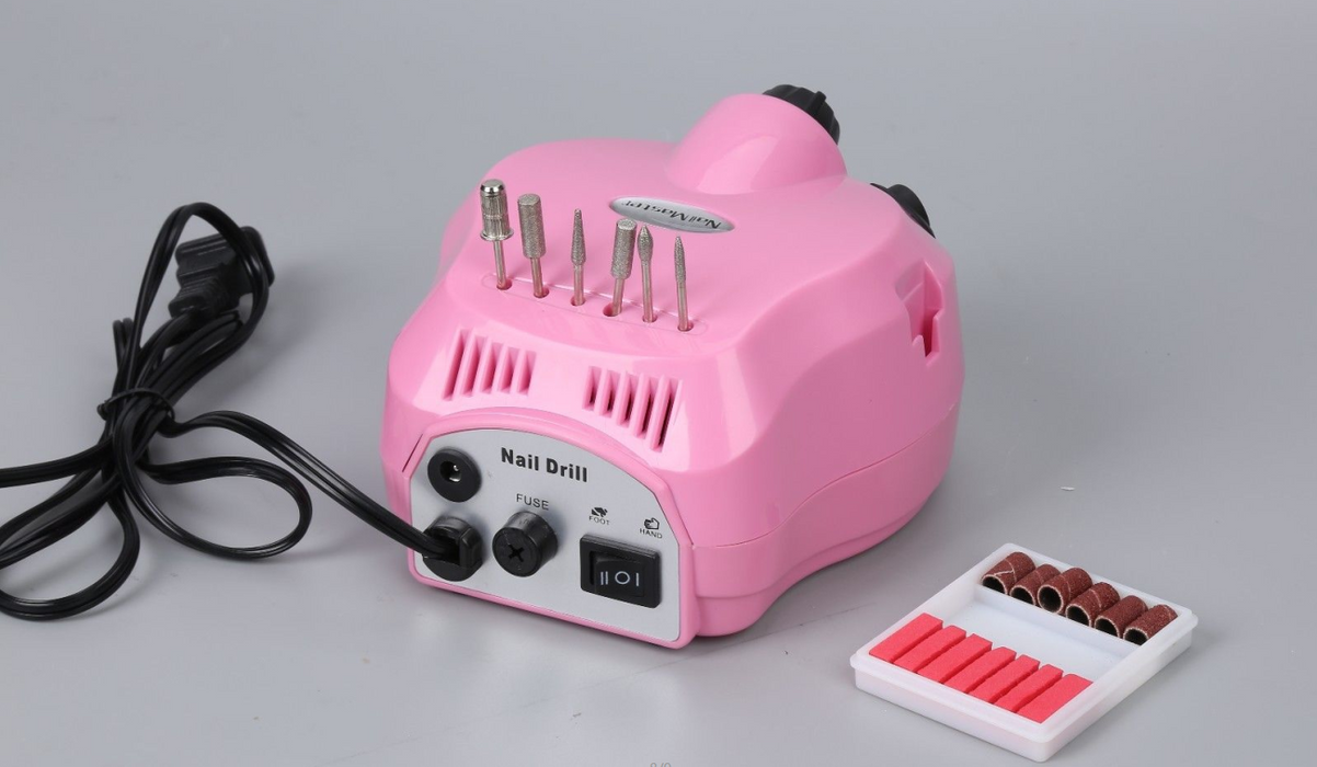BarberPub 25000RPM Electric Nail Art Drill File Grinding Bits Machine Manicure Kit