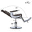 BarberPub Heavy Duty Metal Vintage Barber Chair All Purpose Hydraulic Recline Salon Beauty Spa Styling Equipment 3825