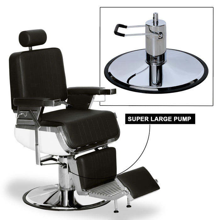 BarberPub Heavy Duty Metal Vintage Barber Chair All Purpose Hydraulic Recline Salon Beauty Spa Shampoo Equipment  3823