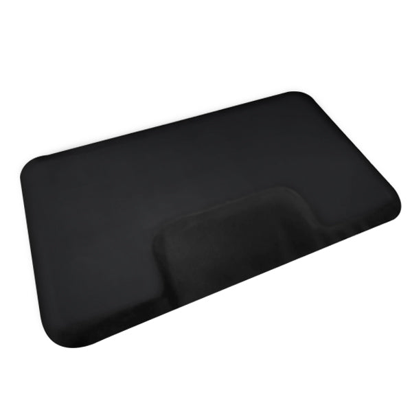 BarberPub 3 x 5 Feet Salon Floor Mat Anti Fatigue Barber Shop Chair Floor Mat For Hair Stylist  Rectangle Half 1 Inch Thick 0040 Black