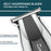 BarberPub Beard Trimmer Professional Hair Clippers Hybrid Beard Grooming Kit for Men Portable Home Hair Trimmer Kit for Men Hair cut Rechargeable Electric Manscaping Trimmer HT06