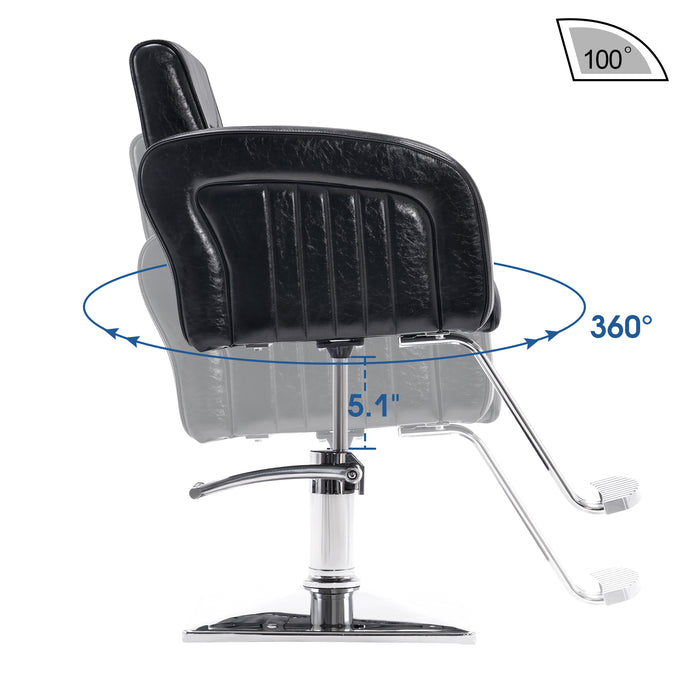 BarberPub Salon Chair for Hair Stylist, All Purpose Hydraulic Barber Styling Chair, Beauty Spa Equipment 8538