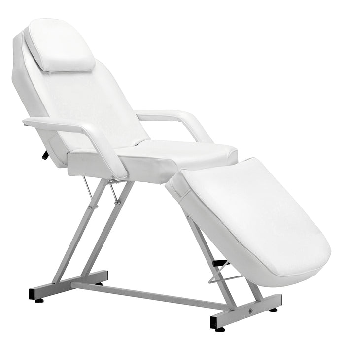 BarberPub 72 Inches Beauty Bed SPA Chair Facial  Salon Tattoo Adjustable Massage Table, White, 0015
