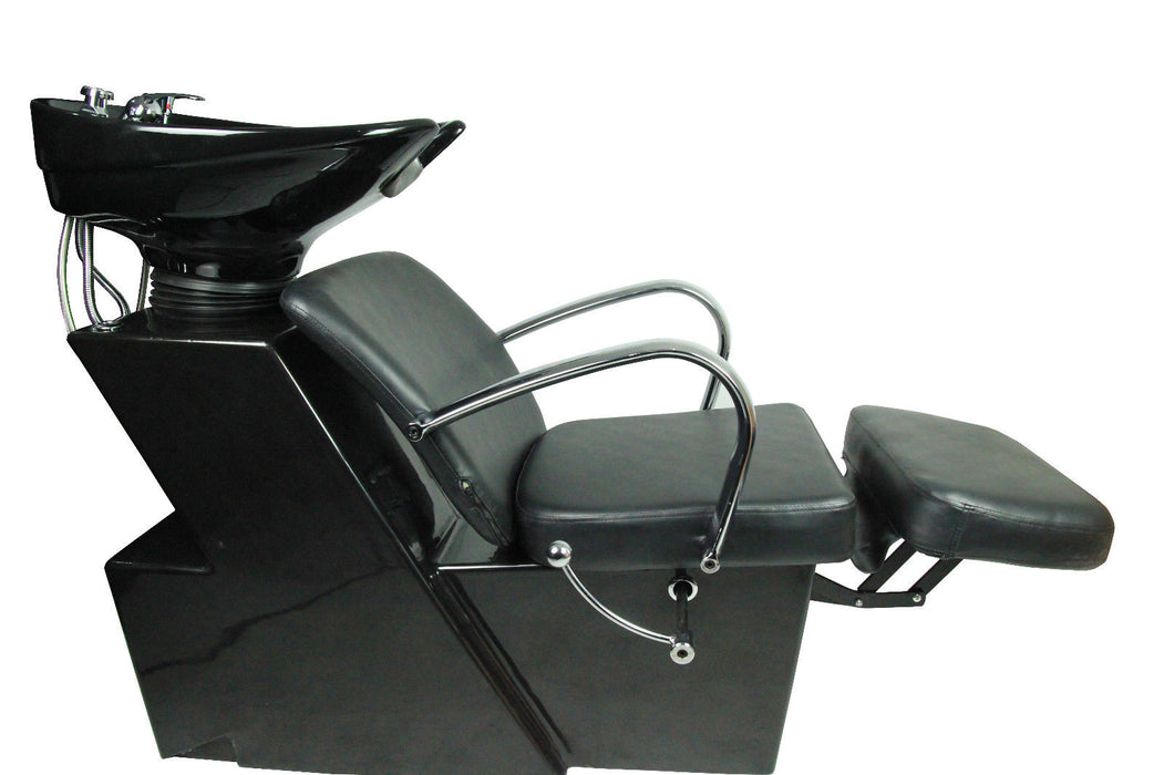 BarberPub Backwash Ceramic Shampoo Bowl Sink Chair Station Beauty Spa Salon Equipment 0648