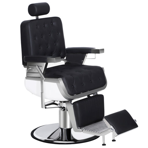 BarberPub Barber Chair Heavy Duty Reclining Hydraulic Hair Styling Chair for Barber Shop, Hair Salon, Salon Furniture Shampoo Equipment 3833