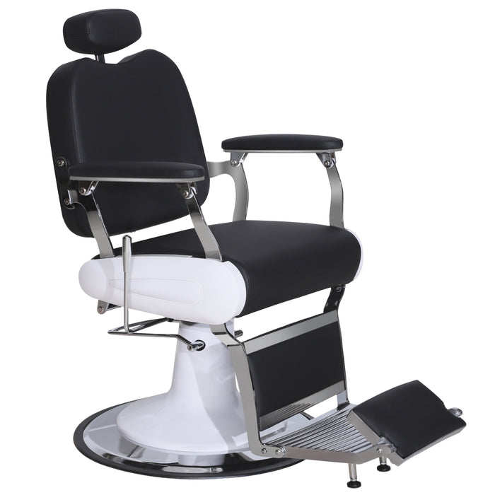 BarberPub Heavy Duty Metal Vintage Barber Chair All Purpose Hydraulic Recline Salon Beauty Spa Chair Styling Equipment 3835
